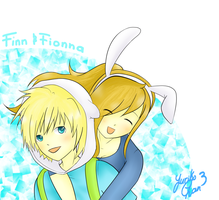 Finn and Fionna by YurikoChan3