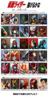 The Kamen Riders by Ethird
