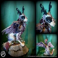 Purple+white large dragon statue - commission by SonsationalCreations