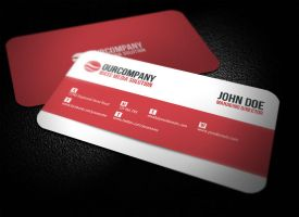 Modern Rounded Corner Business Card by glenngoh