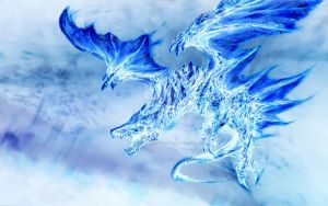 Blue blooded Dragon by The-Lady-Lune
