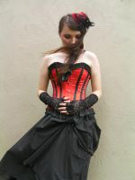 Red Corset 04 by GifsandStock