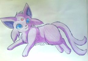 Chibi furry Espeon by CuteFlare