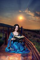 ReadingBookInNature Oil Paint Style by Th3R3v3nan7