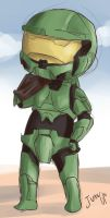 Master Chief by shitsukesen