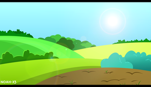 Ponyville Outskirts by Noah-x3