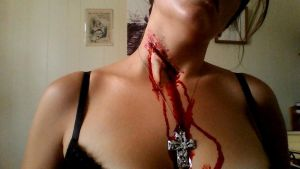 Bloody necklace by Valkyriemakeup