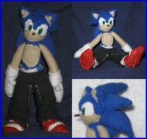 Sonic The Hedgehog Plushie by Zero20-2