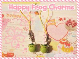 Cute Frog Charms by MoogleGurl