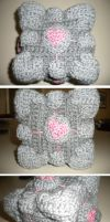 Crochet Companion Cube by lizzy9046