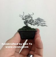 Mame yamadori style wire bonsai tree Ken To by KenToArt