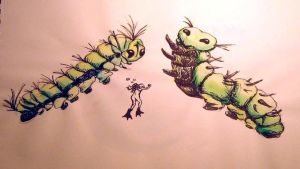 Swimming with Caterpillars by PonderosaPower