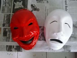 smile and cry mask by agoeznagellol