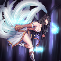 League of Legends- Ahri by i-Proxie