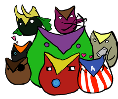 Avengers Owlies by telephonehome
