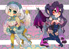 WINGED WOMEN ADOPTABLE AUTION + BONUS by Lolisoup
