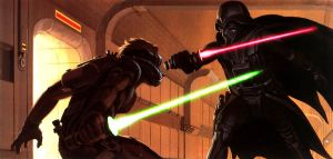 McQuarrie's dark vador vs luke skywalker fight by d4rKp3n4nc3