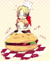 APH: Hat and Burger by Gadriann