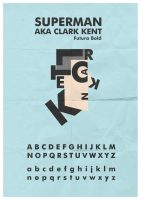 Clark Kent Typeface by mattcantdraw