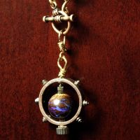 Steampunk Matrix Opal Pendant by CatherinetteRings