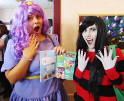 lsp and marceline cosplay by Sioxanne