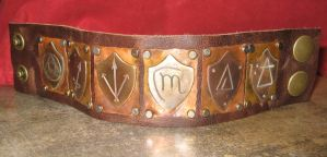 Riveted Dresden Shield Cuff by Peaceofshine