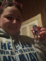 Me with Sonic Boom Sonic Figure by DrEggmanSticksFan101