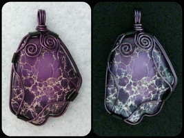 Purple Howlite Pendant by iamdemic