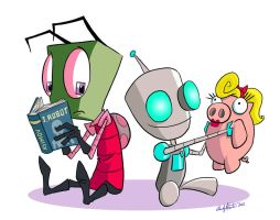 Invader Zim- I, Gir by andyjhunter