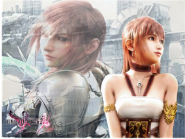 FFXIII-2 Lightning and Serah by jkstrlphinaestrd1780