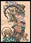 Clara The Steampunk Bounty Hunter Ferret by natamon