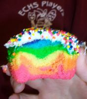 Rainbow Cupcakee by glorreckless