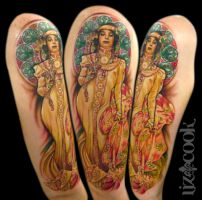 Mucha Tattoo by LizCookTattoo