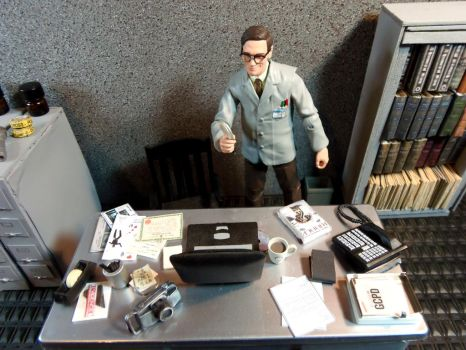 C.S.I. Edward Nygma G.C.P.D. Office by skphile