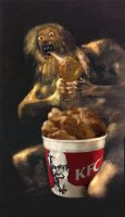 Saturn Devouring His Chicken by Daughter-of-poe