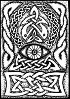 ATC 016 - Celtic AllSeeing Eye by foxvox
