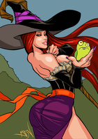 Dragon's Crown Sorceress Sketch by GreenStranger