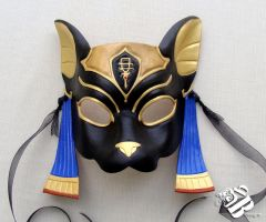 Egyptian Bastet Leather Mask by senorwong