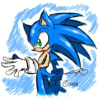 Old art - Sonic.. by CloudshadeZer0