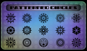 Patterned Circles by Viscious-Speed