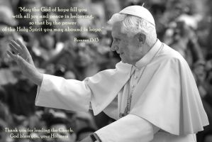 God Bless You Holy Father by TrainerEM-Dustin