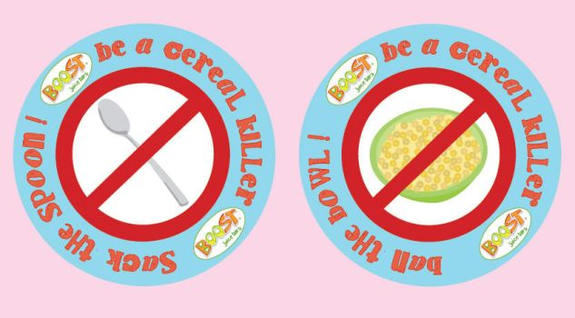 cereal killer stickers+badges. by fish-popsicle