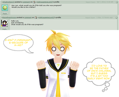 Answer to Question 126 - If Rin was pregnant... by AskKagamineLen02