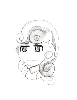 Anime Sweetie Belle by lordcurly972