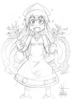 Squid Girl Sketch by ArtinScott