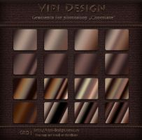 Gradients for photoshop - Chokolate by elixa-geg