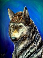 Wolf and Horned Toad by Bexara