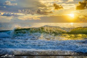 Shore-Break-at-the-Beach-During-Sunrise by CaptainKimo