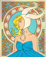 Art Nouveau :: Fionna - week 2 by Silent--Haze
