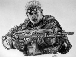 Baird Drawing - Gears of War: Judgment Fan Art by LethalChris